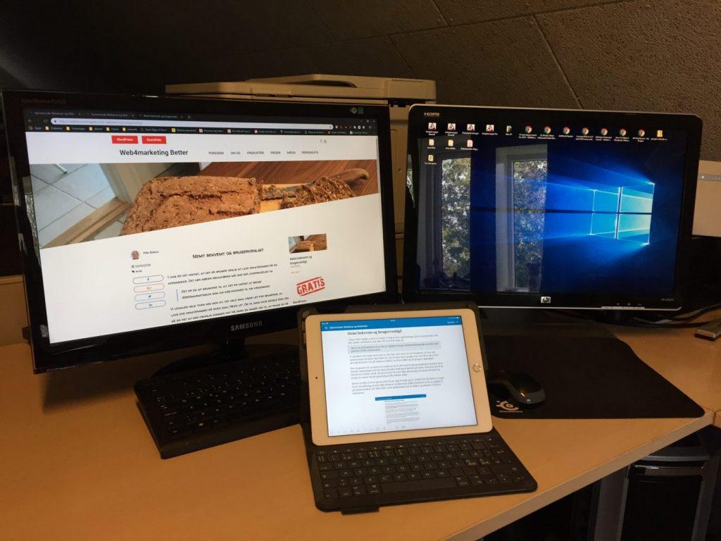 op ret og rediger dine artikler på din tablet