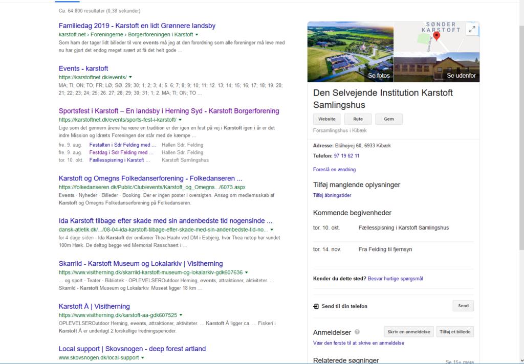WordPress formår at få de lokale nyheder på forsiden.